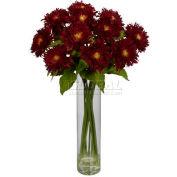 Nearly Natural Sunflower with Cylinder Silk Flower Arrangement, Red