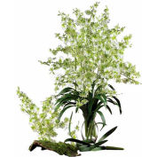 Nearly Natural Dancing Lady Silk Orchid Flowers (Set of 12), Green