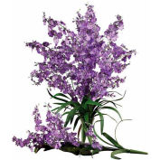 Nearly Natural Dancing Lady Silk Orchid Flowers (Set of 12), Purple