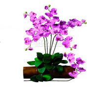 Nearly Natural Phalaenopsis Stem (Set of 12), Mauve