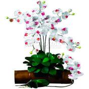 Nearly Natural Phalaenopsis Stem (Set of 12), White