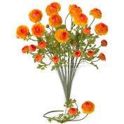 Nearly Natural 23'' Ranunculus Stem (Set of 12), Orange
