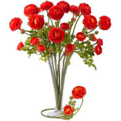 Nearly Natural 23'' Ranunculus Stem (Set of 12), Red