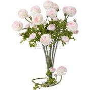 Nearly Natural 23'' Ranunculus Stem (Set of 12), White/Pink
