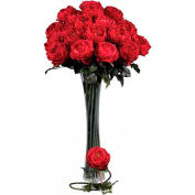 Nearly Natural 31'' Large Rose Stem (Set of 12), Red