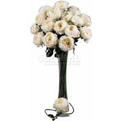 Nearly Natural 31'' Large Rose Stem (Set of 12), White