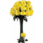 Nearly Natural 31'' Large Rose Stem (Set of 12), Yellow