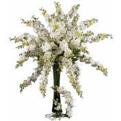 Nearly Natural 38.5'' Delphinium Stem (Set of 12), White