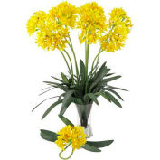 Nearly Natural 29'' African Lily Stem (Set of 12), Yellow