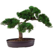 Nearly Natural 16'' Cedar Bonsai Silk Plant