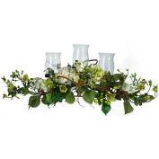Nearly Natural Hydrangea Triple Candelabrum Centerpiece