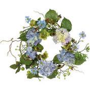 Nearly Natural 20'' Hydrangea Wreath