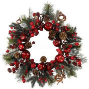 Nearly Natural 22'' Apple Berry Wreath