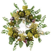 Nearly Natural 20'' Artichoke Floral Wreath