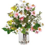Nearly Natural Dogwood Silk Flower Arrangement