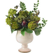 Nearly Natural Artichoke and Hydrangea Silk Flower Arrangement
