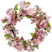 Nearly Natural 24'' Cherry Blossom Wreath