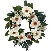 Nearly Natural 22'' Magnolia Wreath