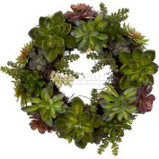 Nearly Natural 20'' Succulent Wreath