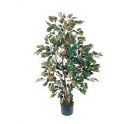 Nearly Natural 4' Ficus Silk Tree, Green