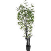 Nearly Natural 6' Black Bamboo Silk Tree (2 Thick Trunks)