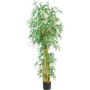 Nearly Natural 7' Curved Slim Bamboo Silk Tree