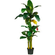 Nearly Natural 6' Triple Stalk Banana Silk Tree