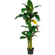 Nearly Natural 6' Triple Stalk Banana Silk Tree
