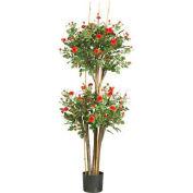 Nearly Natural 5' Mini Rose Silk Tree
