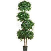 Nearly Natural 69'' Sweet Bay Topiary with 4 Balls Silk Tree