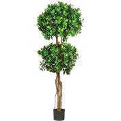Nearly Natural 5.5' Eucalyptus Double Ball Topiary Silk Tree