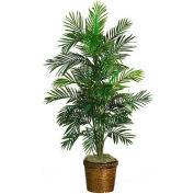 Nearly Natural 4.5' Areca Palm Silk Tree with Basket