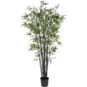 Nearly Natural 6.5' Black Bamboo Silk Tree
