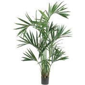 Nearly Natural 6' Kentia Palm Silk Tree, Green