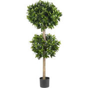Nearly Natural 57'' Sweet Bay Double Ball Topiary Silk Tree