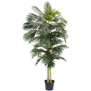 Nearly Natural 8' Golden Cane Palm Silk Tree
