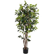Nearly Natural 5' Ficus Bushy Silk Tree