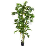 Nearly Natural 6' Areca Palm Silk Tree with Round Pot