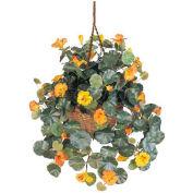 Nearly Natural Nasturtium Silk Hanging Basket