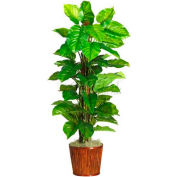 Nearly Natural 63'' Large Leaf Philodendron Silk Plant, Green