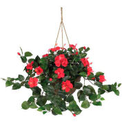 Nearly Natural Hibiscus Hanging Basket