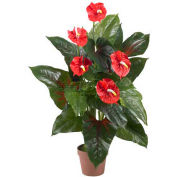 Nearly Natural 3' Anthurium Silk Plant