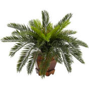 Nearly Natural Cycas with Hexagon Vase Silk Plant