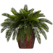 Nearly Natural Double Cycas with Vase Silk Plant