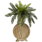 Nearly Natural Cycas with Decorative Vase Silk Plant