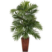 Nearly Natural Areca Palm with Bamboo Vase Silk Plant