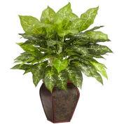 Nearly Natural Dieffenbachia with Decorative Vase Silk Plant