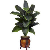 Nearly Natural Giant Spathyfillum with Decorative Vase Silk Plant