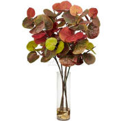 Nearly Natural Giant Sea Grape Leaf with Cylinder Silk Plant