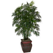 Nearly Natural Mini Bamboo Palm with Decorative Vase